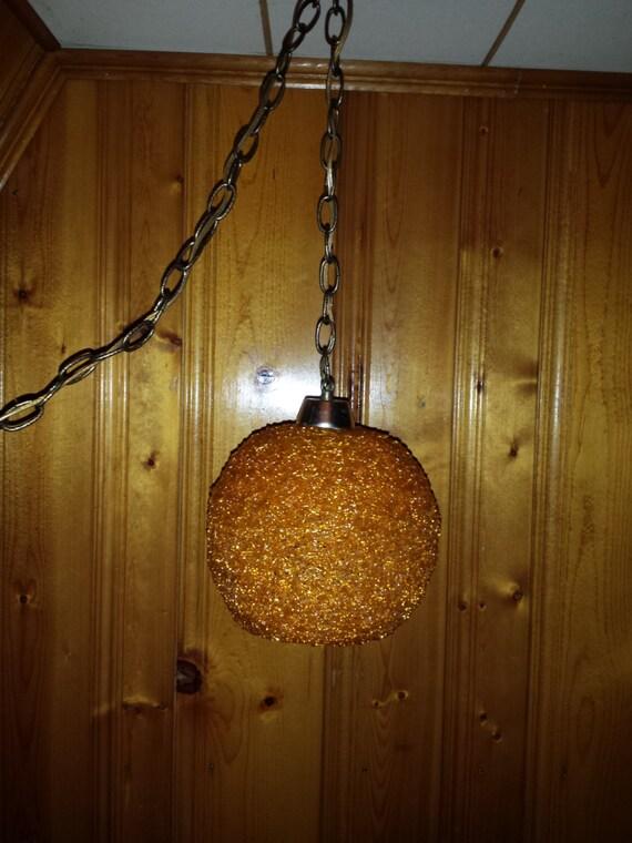 Spun Acrylic Spaghetti Swag Lamp Mid Century Modern Eames