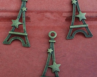 30PCS 20 x 13mm Eiffel Tower   charm   -  antique bronze charm pendant  Jewelry Findings