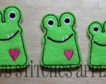 Love Monster Felt Clip Embroidery Design