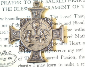 Adoration of the Angels - The Last Supper - Sacred Heart - Cross - Sterling Silver