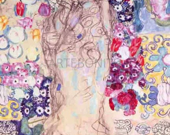 Gustav Klimt  'Portrait of a lady'  limited edition & numbered