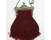 Melinda beaded knitting purse kit with purse frame