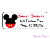 Personalized Mickey Mouse return address lables Mickey mouse Labels Mickey Mouse Address Label