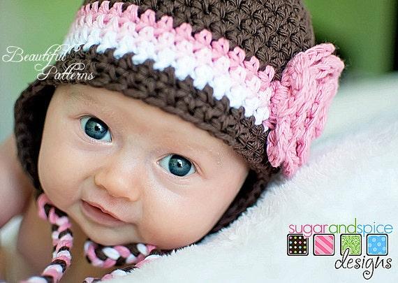 Crochet Hat Pattern Newborn Baby Crochet Hat Flower Hat