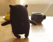 Cofee bears: Espresso. Plush toy bear - Brown bear - soft toy - recycled upcycled