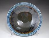 Medium Bowl: Blue Ash and Chocolate Glaze