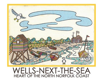 Wells-Next-The-sea Travel Poster (Harbour)