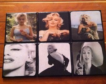 Marilyn Monroe Ceramic Coasters