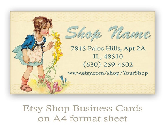 Etsy Business cards Personalized pre made business cards on