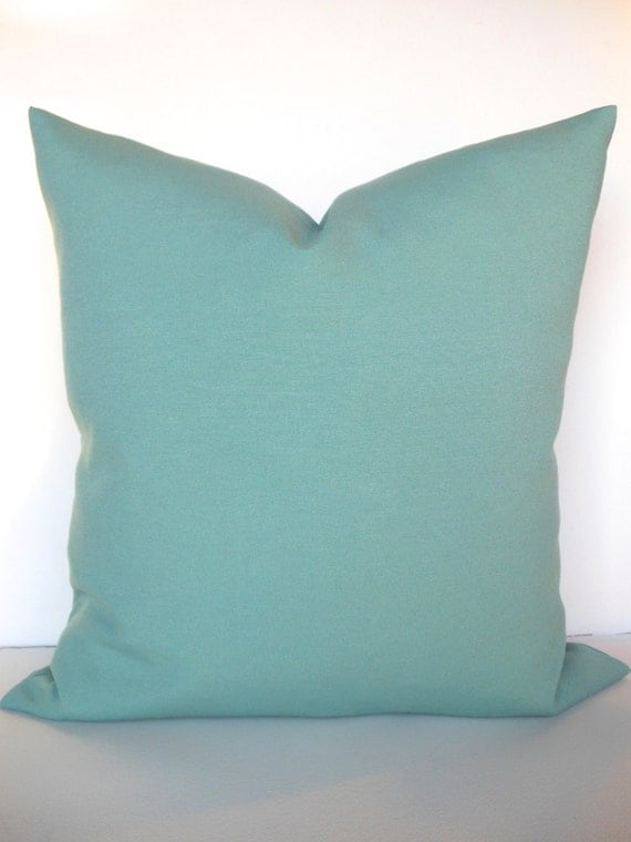 Items similar to GREEN PILLOWS Outdoor Mint Green Throw Pillow Covers Aqua Turquoise Indoor ...