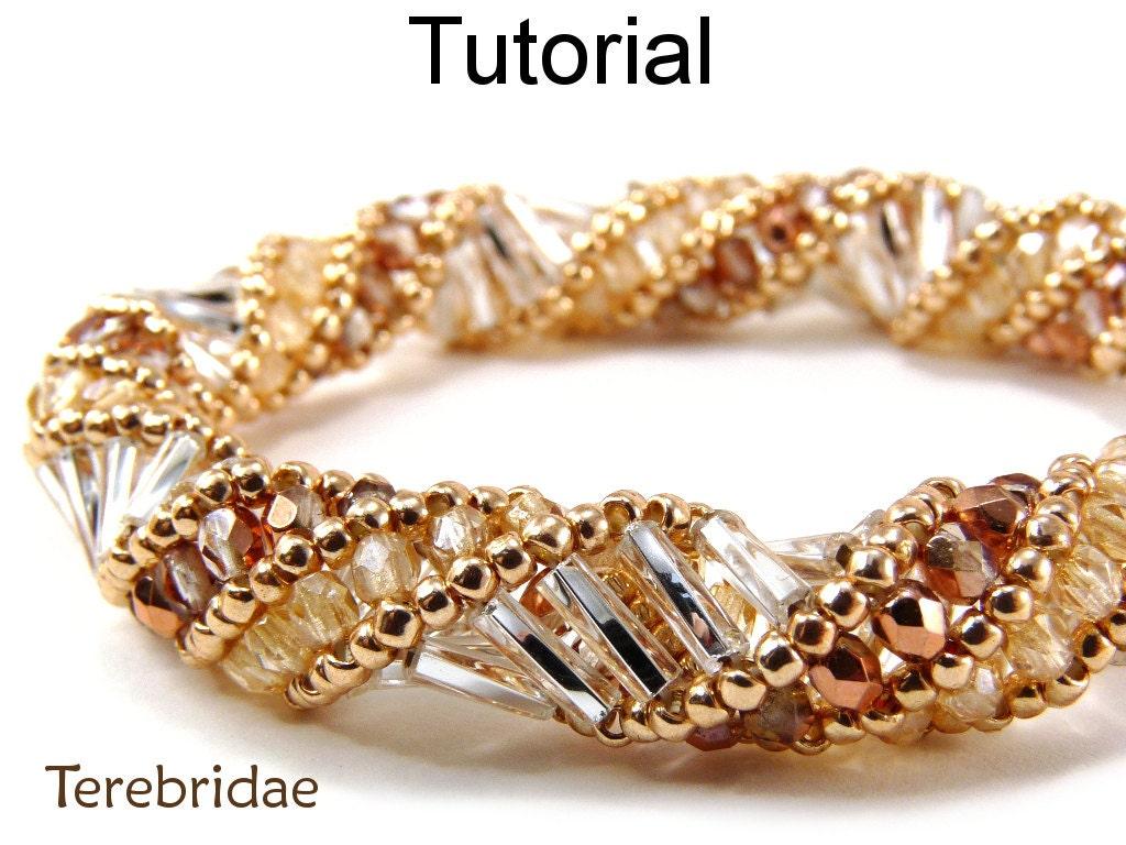 Beaded Bracelet Patterns - Russian Spiral Stitch - Beading ...