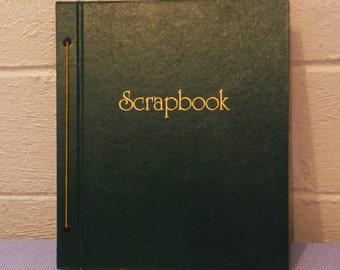 Vintage green scrapbook