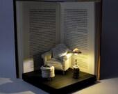 Diorama - Book Paper Diorama with light - Great Comfort.