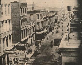 Sacramento Street in San Francisco, CA 1853 - Vintage Photo Print, Ready to Frame!