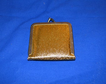 ON SALE  Vintage Gold Portable Mirror for Your Purse