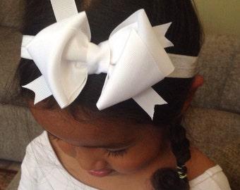 Pick Any Six Back To School Grosgrain Ribbon Headband / Hair Clip, Baby Girl Hair Bow Headband, Girls Hair Bow Headband / Hair Clip
