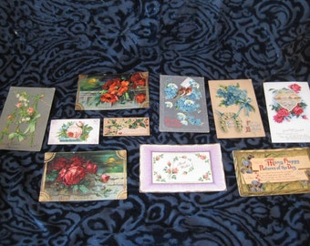 Collection of vintage postcards, get well cards, greeting cards, birthday cards