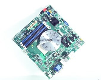 Green Motherboard Wall Clock, Geekery, Clocks by DanO