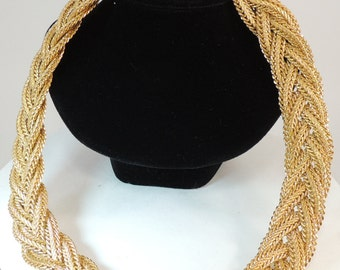 Napier Braided Woven Substantial Necklace Vintage Jewelry