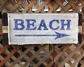 Wood Beach Sign-Beach Decor