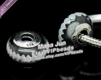 Top Quality  925 Silver Screw Core  Murano Glass Beads Lampwork European Charm Bead Fits European Charm Bracelets/ ZS053