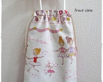Ballerina shoes drawstring bag