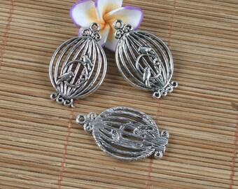 6pcs Tibetan silver bird pendant h0052
