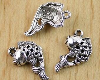 25Pcs  cute goldfish charm pendants (h0308 or h2062)