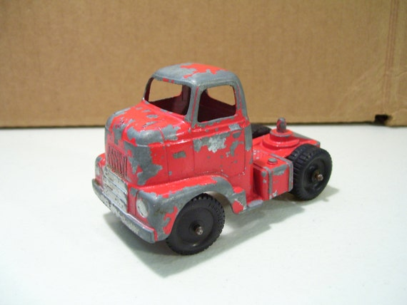 Tootsietoy Red Semi Truck Diecast Car, 1960's Vintage Car Toy