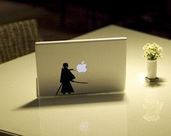 Kenshin Himura 2- Anime Decal for Macbook, Laptop, iPad, iPhone, Car, Windows, Wall, Nintendo 3ds, XBox, Playstation etc