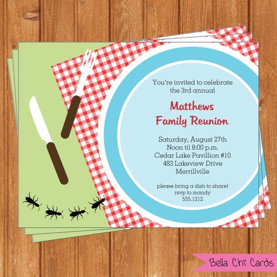 This is a graphic of Monster Free Printable Family Reunion Invitations