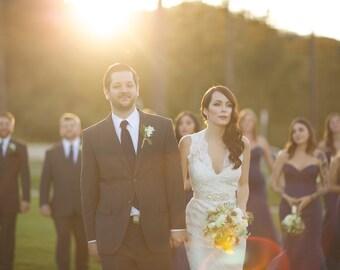 Swarovski Rhinestone Pearl Wedding Sash - S6