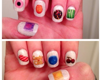 Candy Crush Nail Decals