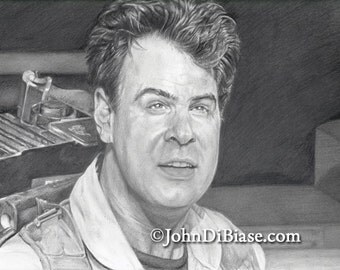 Dan Aykroyd as Ray Stantz in Ghostbusters Drawing Print