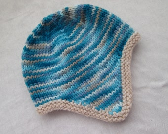 Instock: 0-3 month baby ear flap hat