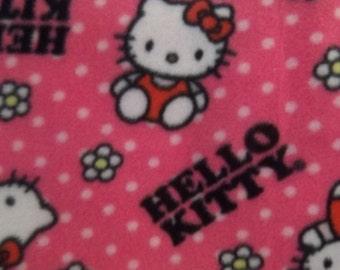 Hello Kitty Flower Dot Toss Fleece Fabric BTY