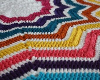 Crochet baby blanket, crochet blanket, star blanket, lap blanket, retro crochet blanket, baby shower gift, baby shower, newborn blanket