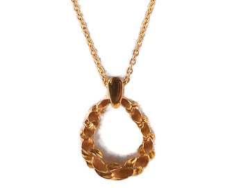 TRIFARI Retro Ribbon Gold Tone Enamel Necklace Jewelry