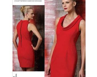 "Dress, Scoop Neckline by Cynthia Steffe - 2000's -  Vogue American Designer Pattern 1151 Uncut  Sizes 14-16-18-20  Bust  36-38-40-42"""