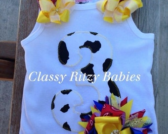 Cowgirl birthday top. Jesse inspired birthday. Jesse Toy Story hairbow