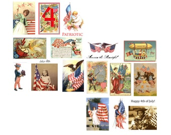 4th of July Digital Collage Set