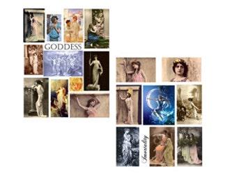 SALE**** Goddess Digital Collage Set****SALE
