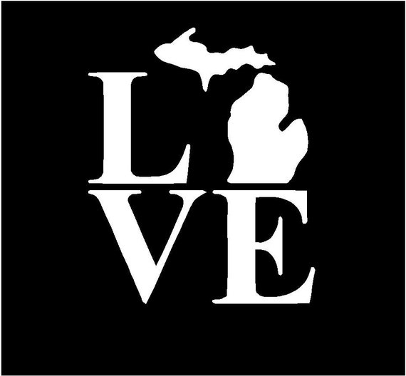 Items Similar To Love Michigan State Vinyl Sticker Decal