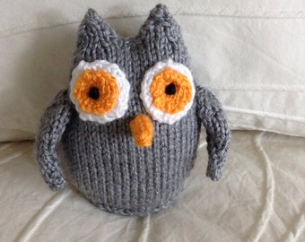 Stuffed Animal - Owl - Soft Toy - Handmade Toy - Knitted Owl