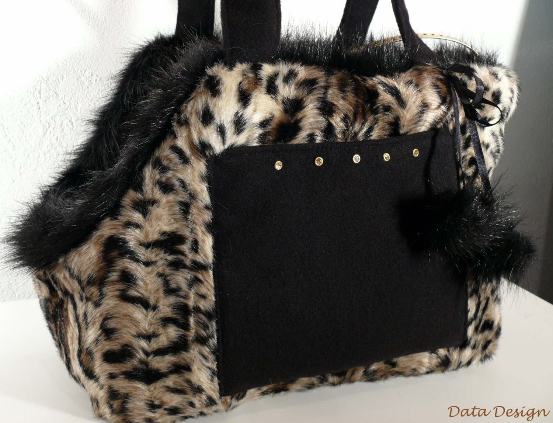 Shoulder Bag Pet Carrier With Fur Trim 100
