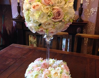 Artificial Flowers Vintage Style Pink Cream Rose WTable Decoration Weddings
