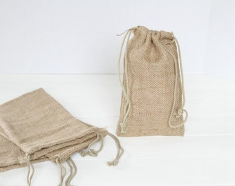 50 5 x 6 Burlap Bags with Drawstring , favor bags, wedding favor bags, birthday favors, burlap bags, Thank You Rustic Shabby Chic Candy Bags