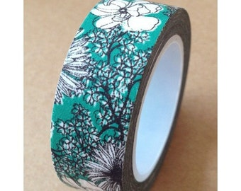 """Floral Washi Tape """"Blooming Beauty"""" 15mm x 10 Meters"""