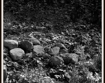 Shallow Stream, Black and White Photograph, Fine Art Photography, Nature Photography, Landscapes