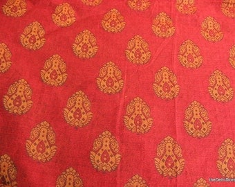 Polyester Silk and Cotton Blend  Chanderi Silk BOHO Clothing Fabric